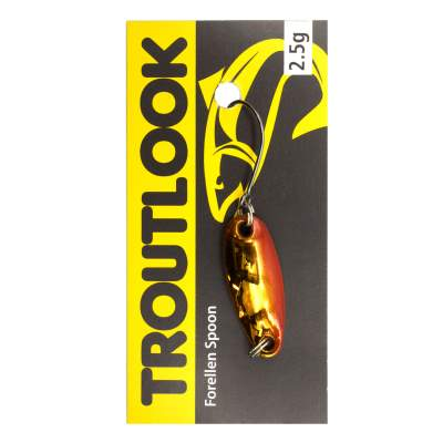 Troutlook Forellen Spoon Bumblebee UV, 2,85cm - 2,5g - Red-Gold-White