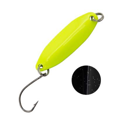 Troutlook Forellen Spoon Wave, 3,11cm - 3,3g - Yellow-Black UV