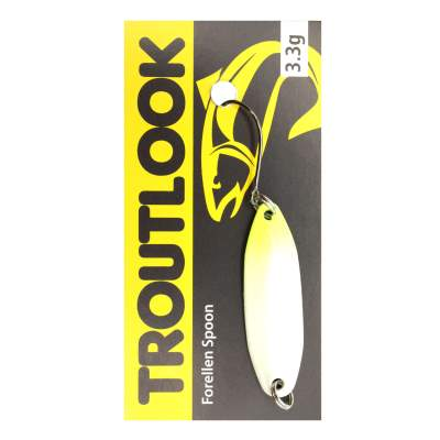 Troutlook Forellen Spoon Wave, 3,11cm - 3,3g - White-Yellow-Silver UV
