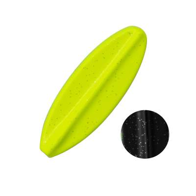 Troutlook Hurricane Inline Spoon, 4,00cm - 3,5g - Black-Yellow UV