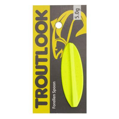 Troutlook Hurricane Inline Spoon, 4,84cm - 5,0g - Black-Yellow UV