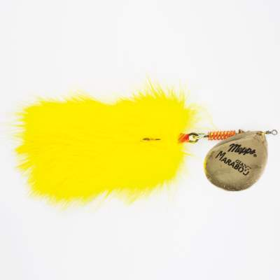Mepps Giant Marabou Bucktail Spinner  gold/ gelb
