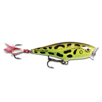 Rapala Skitter Pop 5,0cm Lime Frog (LF), 6g, Top Water, 1 Stück