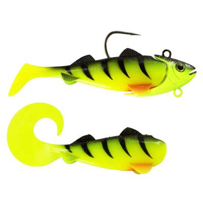 Team Deep Sea Hightide Sea Shad - der Meeresangel Gummifisch 200g UV Chartreuse Ghost