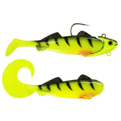 Team Deep Sea Hightide Sea Shad - der Meeresangel Gummifisch 300g UV Chartreuse Ghost