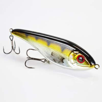 Strike Pro Jerkbait Buster Jerk 15cm Shallow Runner floating C606E Metallic Perch