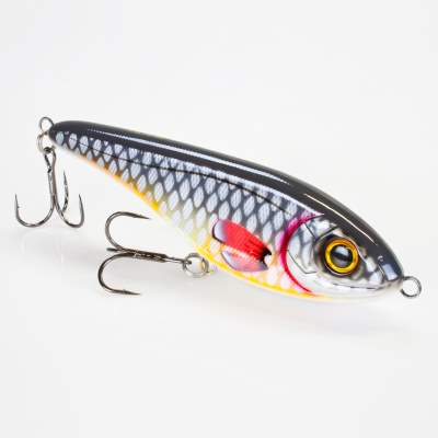 Strike Pro Jerkbait Buster Jerk 15cm Shallow Runner floating C649F Gray Roach
