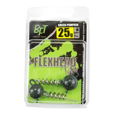 BFT Flexhead Pike Jighead 2er Pack green pumpkin 25g
