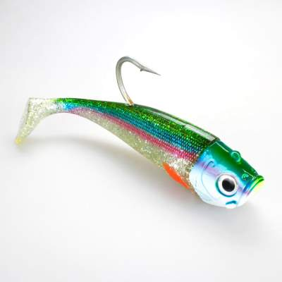 Team Deep Sea Saltwater Jig Shad, 24,0cm, 400g, 1  Kopf + 2 Shads, Holographic Hering