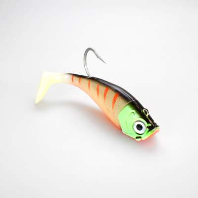 Team Deep Sea Saltwater Jig Shad, 20,0cm, 265g, 1  Kopf + 1 Shad, Fluo Monster Tiger