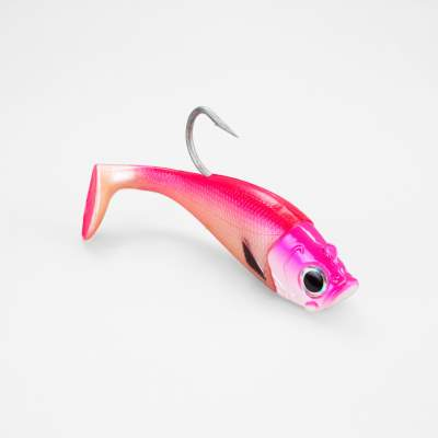 Team Deep Sea Saltwater Jig Shad, 16,0cm, 180g, 1 Kopf + 1 Shad, Fluo Pink Hostess, - 16cm - Fluo Pink Hostess - 180g - 1+1Stück