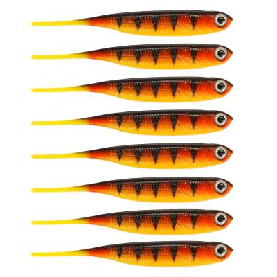 Fox Rage Micro Tiddler Slow Gummifisch 5cm Hot Tiger UV, - 5,00cm -Hot Tiger UV- 8Stück