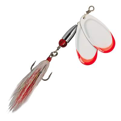 Pezon & Michel Buck Pike Twin Spinner  N°6 White Red