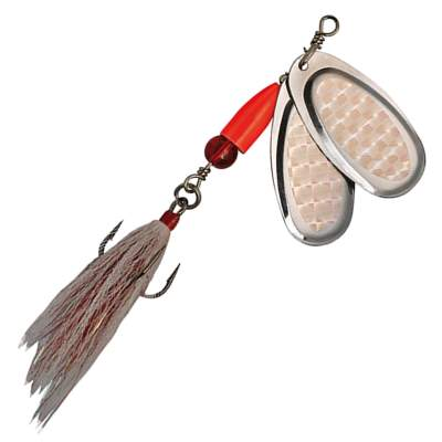 Pezon & Michel Buck Pike Twin Spinner  N°6 Full Silver