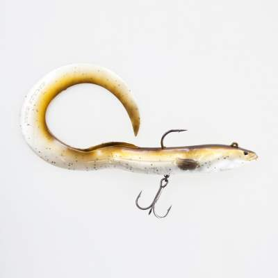 Savage Gear Real Eel (Ready to fish), 1 Stück 30cm, 80g, Olive Pearl