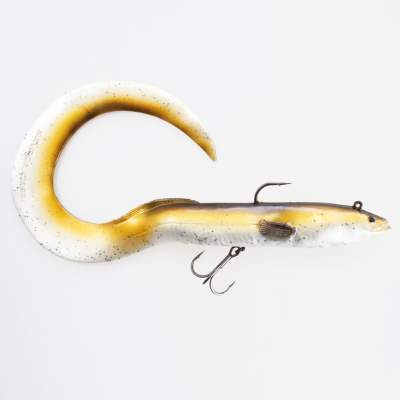 Savage Gear Real Eel (Ready to fish), 1 Stück 40cm, 165g, Olive Pearl