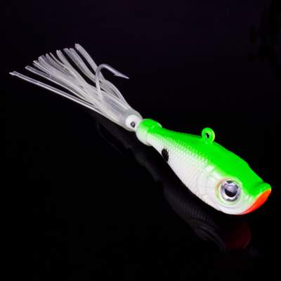 Team Deep Sea Flatter Jig 140g 6/0 green yellow