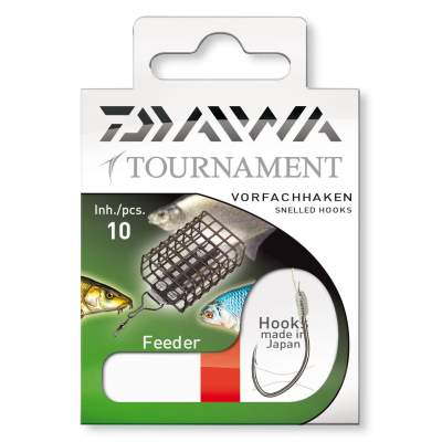 Daiwa Tournament Feederhaken Gr.6, - 70cm - Gr.6 - 0,23mm - 10Stück