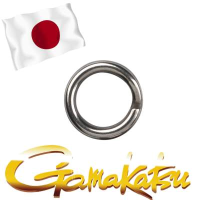 Gamakatsu Hyper Split Ring 5, - stainless black nickel - Gr.5 - 9Stück