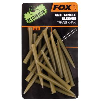 Fox Edges Anti Tangle Sleeves Trans Khaki, - khaki - 25Stück