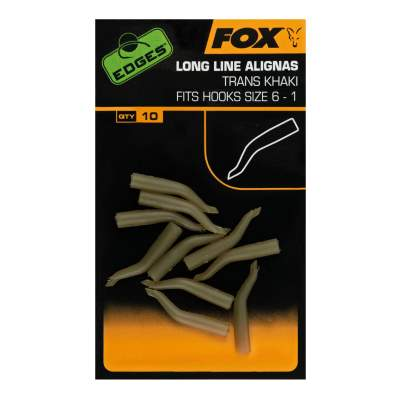 Fox Edges Long Line Alignas hook sz 1-5, 10 Stück