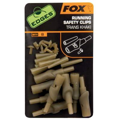 Fox Edges Running safety clips trans khaki