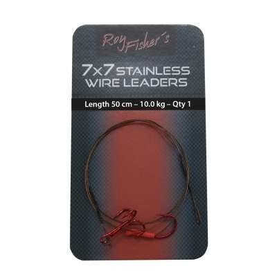2 D Roy Fishers/7x7 Stahlseide Deadbait Rig 50cm 8Kg mit Einzelhaken Gr