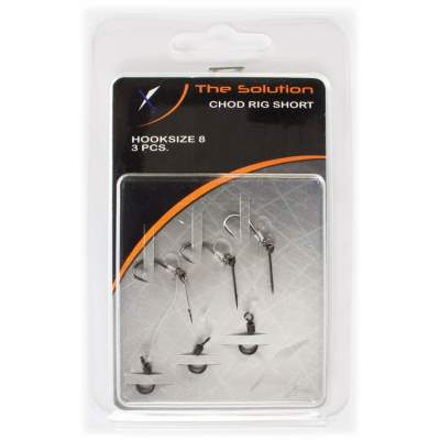 The Solution Chod Rig Short Karpfenvorfach (3er Pack) Size 8, 4cm - Hakengröße 8 - 3 Stück