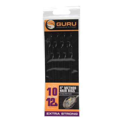 Guru Ready Rigs 4 Method Hair Rigs, Gr. 10 - 12lb - MWG Hook