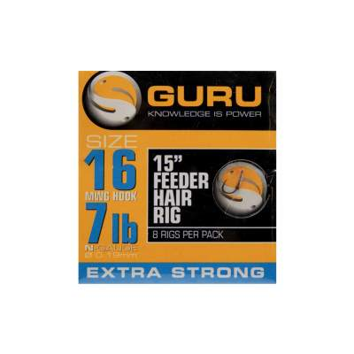 "Guru Ready Rigs 15"" Feeder Hair Rigs Gr.16 - 38cm - 8 Stück"