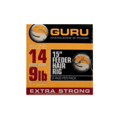 "Guru Ready Rigs 15"" Feeder Hair Rigs Gr.14 - 38cm - 8 Stück"