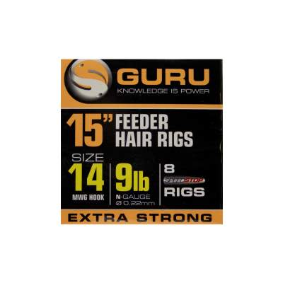 "Guru Ready Rigs 15"" Method Feeder Rigs Speed Stop, Gr. 14 - 38cm - 8 Stück"