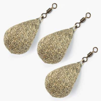 BAT-Tackle Karpfenblei Flat Sided Pear Lead gravel 99g 3 Stück