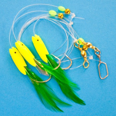 Team Deep Sea Fluo Fish Sunshine Meeresvorfach, - 140cm - 1mm - 1System
