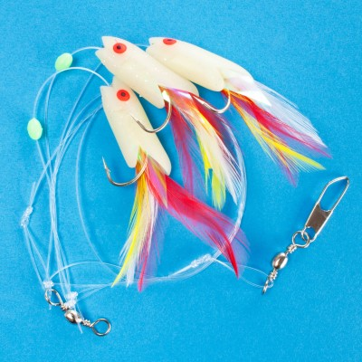 Team Deep Sea Fluofish Dorsch Killer Meeresvorfach, - 120cm - 0,7mm - 1System