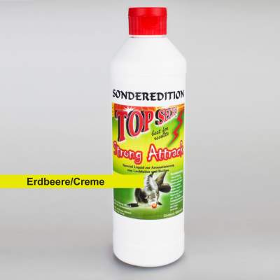 Top Secret Sonderedition flüssig Lockstoff/ Emulsion 500 ml Erdbeere/Creme