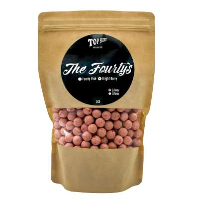 Top Secret The Fourty´s Boilies, 16mm - pink/weiß - 1kg - Bright Berry