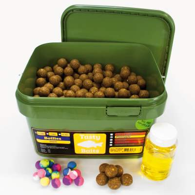 Tasty Baits Bucket Boilies 20mm Sessionpack Pop-Up + Dip 2,5kg Pineapple