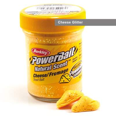 Berkley Powerbait Natural Scent Trout Bait Glitter, Cheese Glitter, 50g