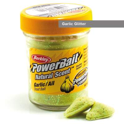 Berkley Powerbait Natural Scent Trout Bait Glitter Garlic Glitter