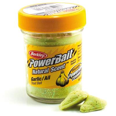 Berkley Powerbait Natural Scent Trout Bait Glitter, Garlic Glitter, 50g