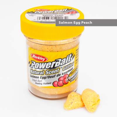 Berkley Powerbait Natural Scent Trout Bait Glitter Salmon Egg Peach