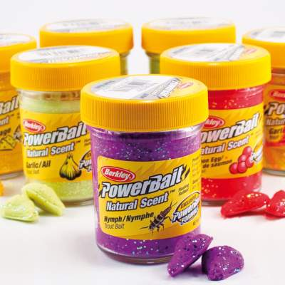 Berkley Powerbait Natural Scent Trout Bait Glitter, Garlic Chartreuse, 50g