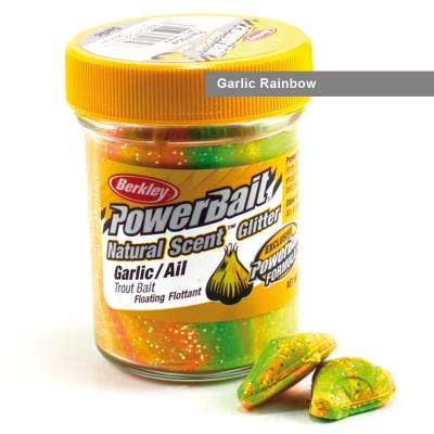 Berkley Powerbait Natural Scent Trout Bait Glitter Garlic Rainbow