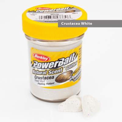 Berkley Powerbait Natural Scent Trout Bait Glitter Crustacea White