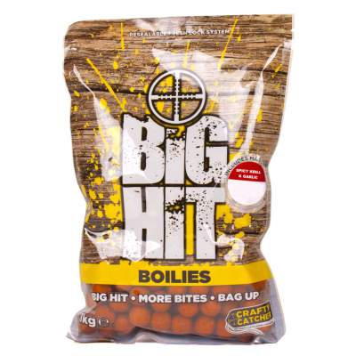 Crafty Catcher Big Hit Boilies 15mm 1kg + Pop Ups Spicy Krill & Garlic Boilie, Crafty Catcher Big Hit Boilies 15mm 2kg + Pop Ups Spicy Krill & Garlic