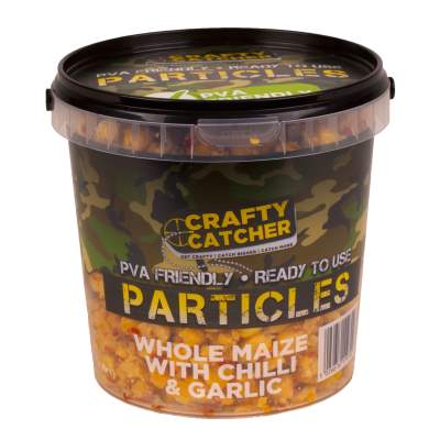 Crafty Catcher Prepared Particles 1,1Liter Whole Maize With Chilli & Garlic Futter Partikel