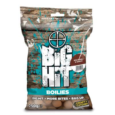 Crafty Catcher Big Hit Boilies 250g, 15mm - Spicy Krill & Garlic