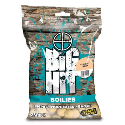Crafty Catcher Big Hit Boilies 250g Boilie, 15mm - Coconut Cream