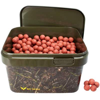 BAT-Tackle Böse Boilies im Realistric® Eimer, 2,5 kg, 18mm, Angry Strawberry